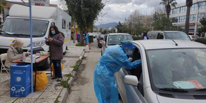 Όρθιο απέναντι στην πανδημία το Ηράκλειο: μόλις 4 θετικά σε σύνολο των 584 δειγμάτων στα drive through tests του Δήμου και του ΕΟΔΥ